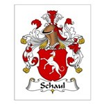 Schaul Family Crest  Small Poster