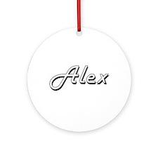 Alex Classic Style Name Ornament (Round)