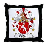 Schaul Family Crest  Throw Pillow