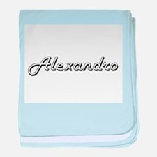 Alexandro Classic Style Name baby blanket