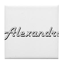 Alexandro Classic Style Name Tile Coaster