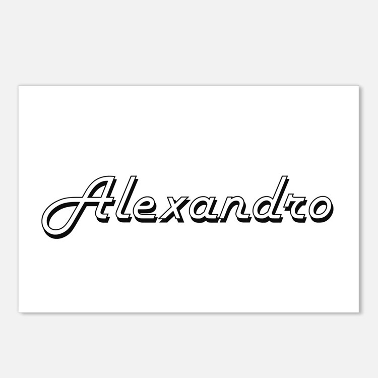 Alexandro Classic Style N Postcards (Package of 8)