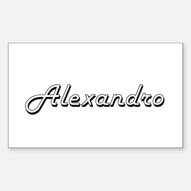 Alexandro Classic Style Name Decal