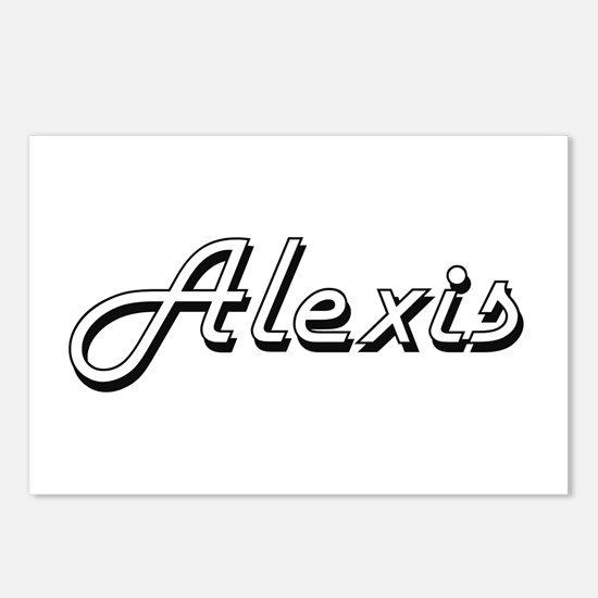 Alexis Classic Style Name Postcards (Package of 8)
