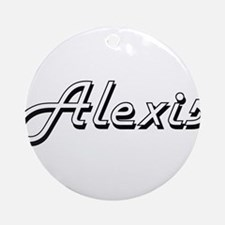 Alexis Classic Style Name Ornament (Round)