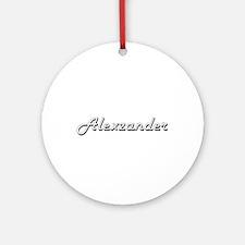 Alexzander Classic Style Name Ornament (Round)