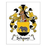 Schauer Family Crest Small Poster