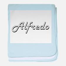Alfredo Classic Style Name baby blanket