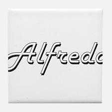Alfredo Classic Style Name Tile Coaster