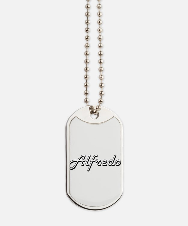 Alfredo Classic Style Name Dog Tags