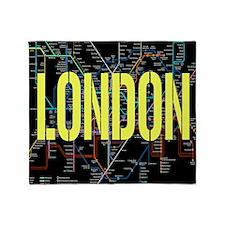 London Tube Throw Blanket