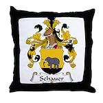 Schauer Family Crest Throw Pillow