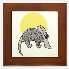 Cute Little Armadillo Framed Tile