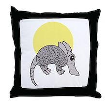 Cute Little Armadillo Throw Pillow