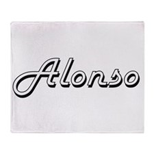 Alonso Classic Style Name Throw Blanket
