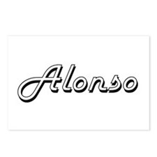 Alonso Classic Style Name Postcards (Package of 8)