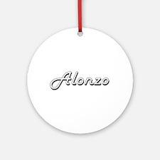 Alonzo Classic Style Name Ornament (Round)
