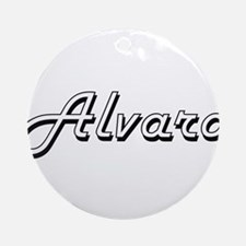 Alvaro Classic Style Name Ornament (Round)