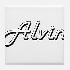 Alvin Classic Style Name Tile Coaster
