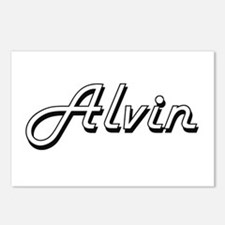 Alvin Classic Style Name Postcards (Package of 8)