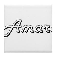 Amari Classic Style Name Tile Coaster