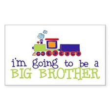 going to be a big brother train Sticker (Rectangul