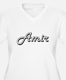Amir Classic Style Name Plus Size T-Shirt