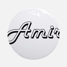 Amir Classic Style Name Ornament (Round)