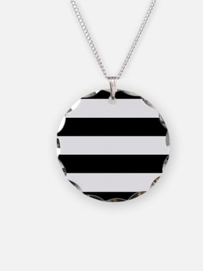 Black & White Stripes Necklace