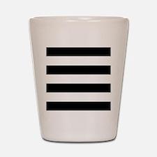 Black & White Stripes Shot Glass