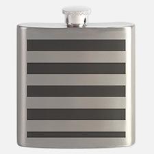 Black & White Stripes Flask