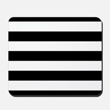 Black & White Stripes Mousepad