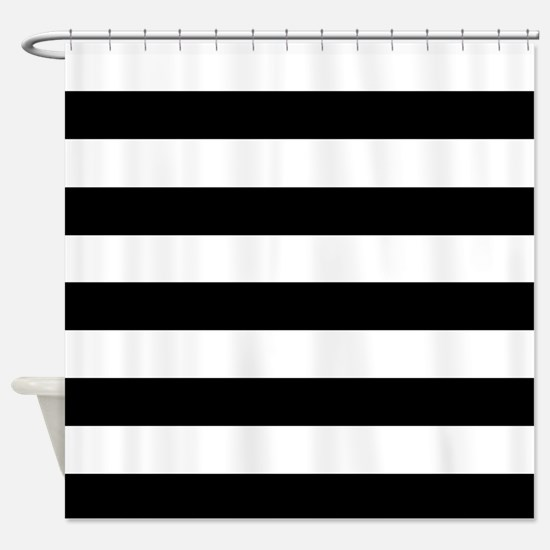 Black & White Stripes Shower Curtain
