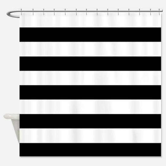 black white striped shower curtain. Black  White Stripes Shower Curtain And Curtains CafePress