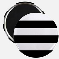 "Black & White Stripes 2.25"" Magnet (10 pack)"