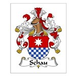 Schau Family Crest  Small Poster