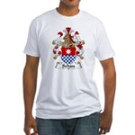 Schau Family Crest  Fitted T-Shirt
