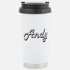 Andy Classic Style Name Stainless Steel Travel Mug