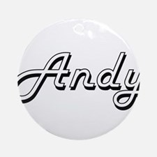 Andy Classic Style Name Ornament (Round)