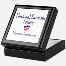 National Sarcasm Society Keepsake Box