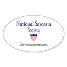 National Sarcasm Society Oval Decal