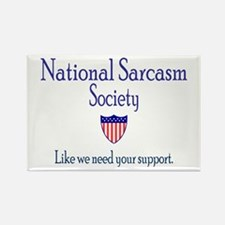 National Sarcasm Society Rectangle Magnet (10 pack