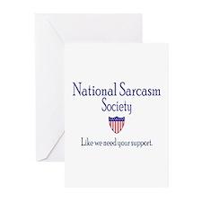 National Sarcasm Society Greeting Cards (Pk of 10)