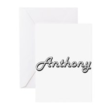 Anthony Classic Style Name Greeting Cards