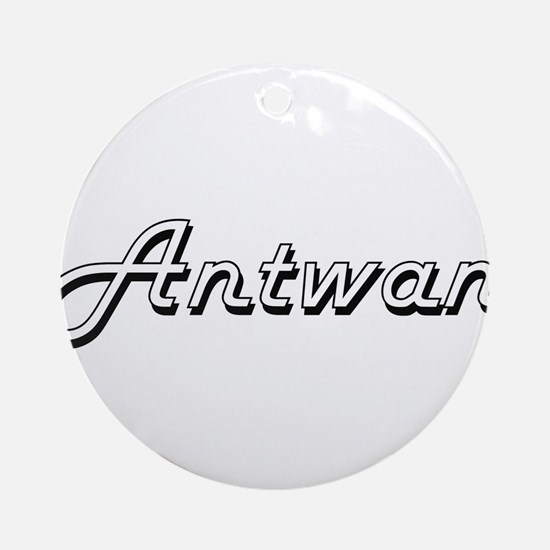 Antwan Classic Style Name Ornament (Round)