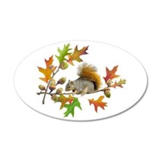 Squirrel Oak Acorns Wall Decal