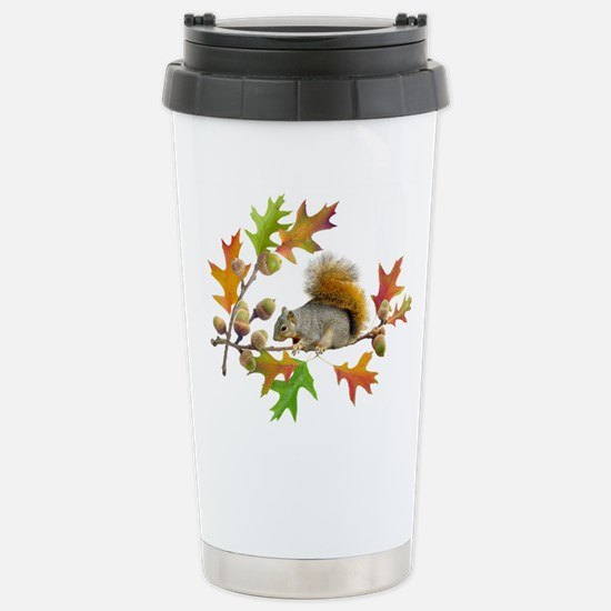 Squirrel Oak Acorns Stainless Steel Travel Mug