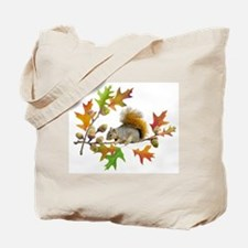 Squirrel Oak Acorns Tote Bag