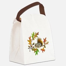 Squirrel Oak Acorns Canvas Lunch Bag