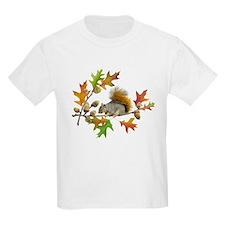 Squirrel Oak Acorns T-Shirt